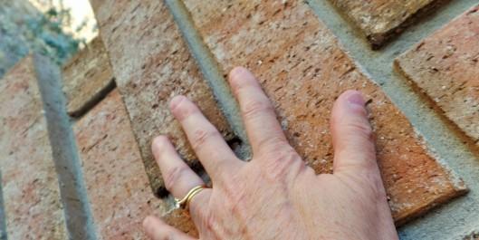 Love touching brick.